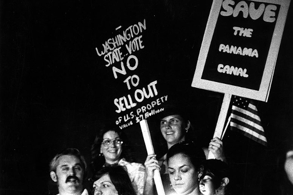 Photo of 1979 Save the Panama Canal rally