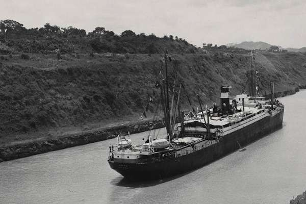 SS Ancon transiting the Panama Canal